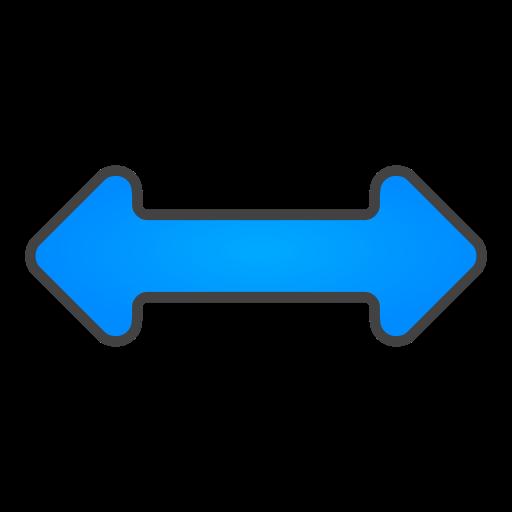 horizontal, resize icon