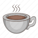 breakfast, cappuccino, cartoon, coffee, cup, hot, mocha icon