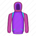 cartoon, clothes, clothing, ski, sport, warm, winter icon