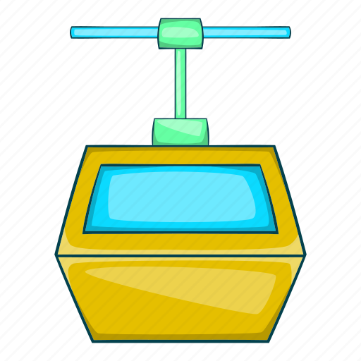 Cable, cartoon, gondola, lift, ski, transportation, travel icon - Download on Iconfinder