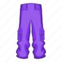 active, cartoon, pants, season, snowboard, snowboarding, winter icon