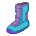 boot, cartoon, cold, illustration, shoe, snow, snowboard icon
