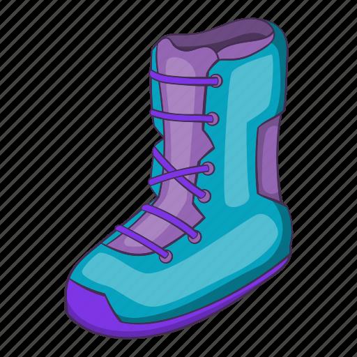 boot, cartoon, cold, illustration, shoe, snow, snowboard icon