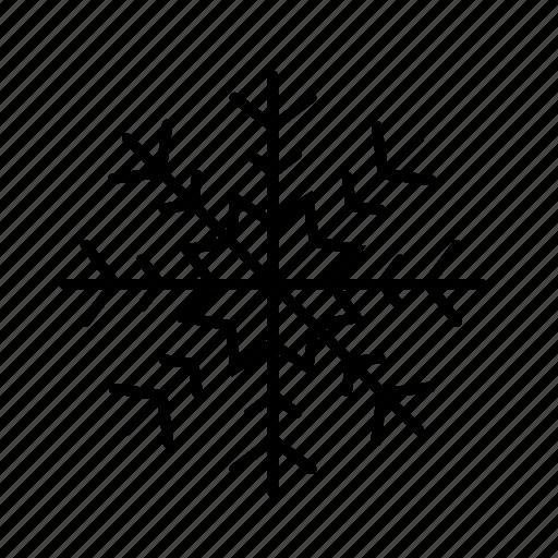 christmas, cold, ornamental, snow, snowflake, winter icon