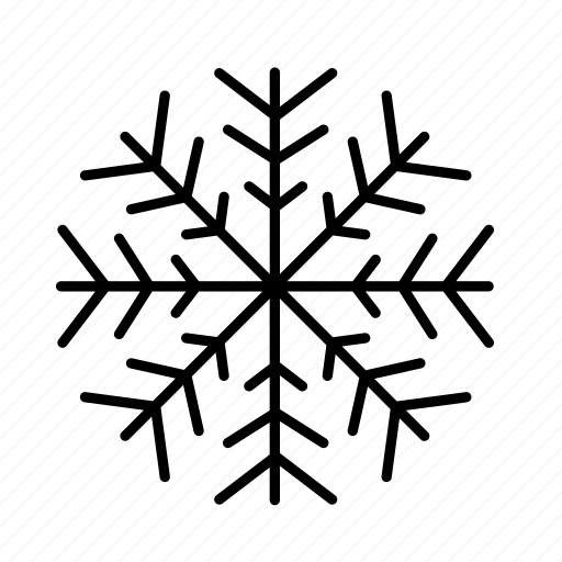 christmas, cold, ornamental, snow, snowflake, winter icon