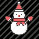 christmas, holiday, man, snow, snowman, winter, xmas icon icon