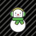 chirstmas, holiday, man, snow, snowman, winter, xmas icon icon