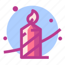 candle, christmas, newyear, snow icon
