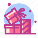 christmas, gift, newyear, present, snow icon