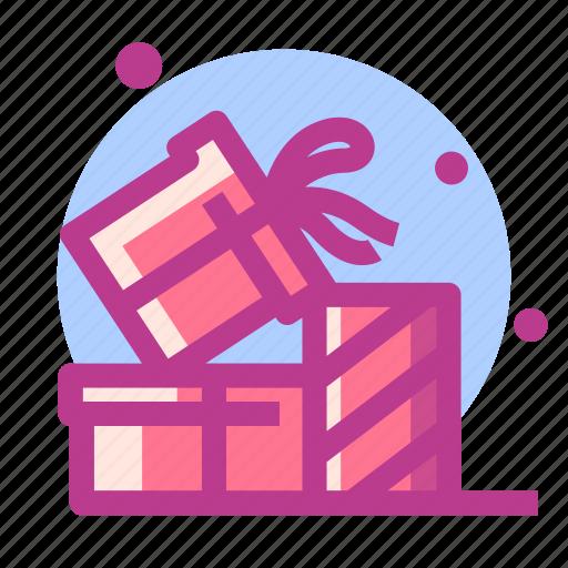 christmas, gift, newyear, present, snow icon