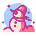 christmas, newyear, snow, snowman icon