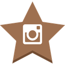 favorite, instagram, socal, star icon