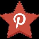 pin, pinterest, star, favorite