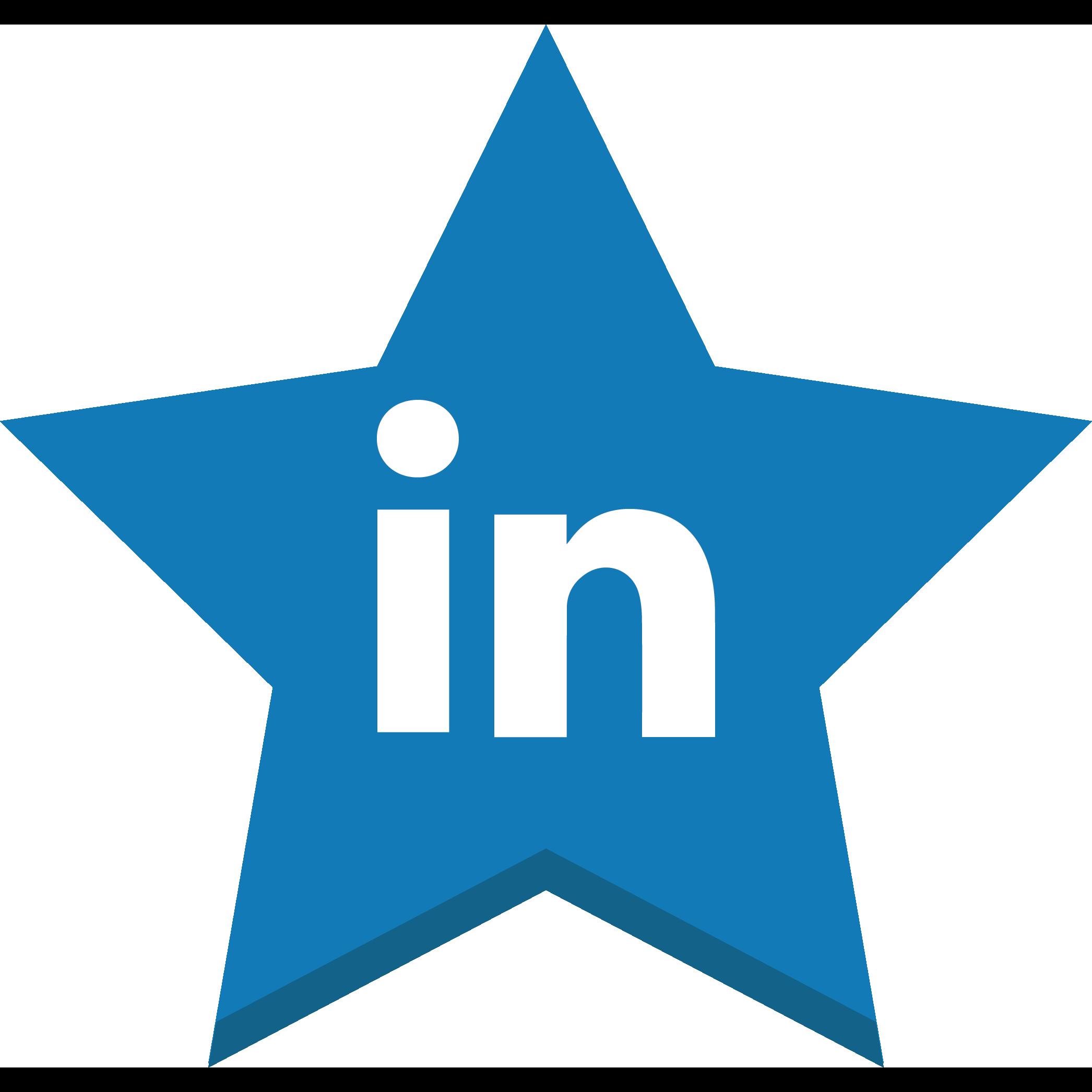 best, favorite, in, linkedin, socal, star, win icon