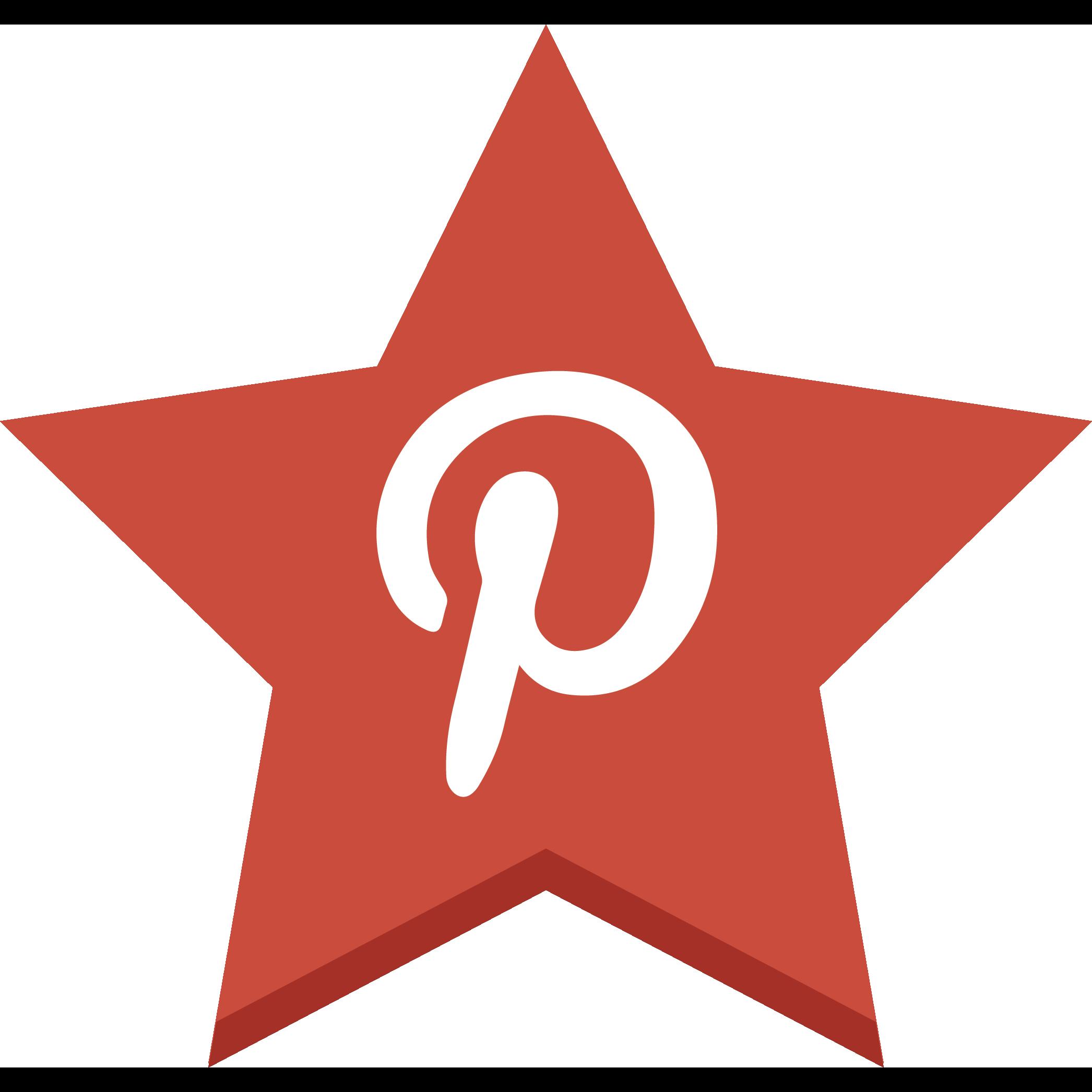 favorite, pin, pinterest, star icon