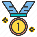 award, medal, sport, stadium, win icon