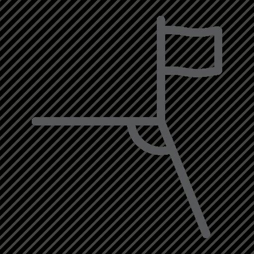 corner, field, flag, football, soccer, sport icon