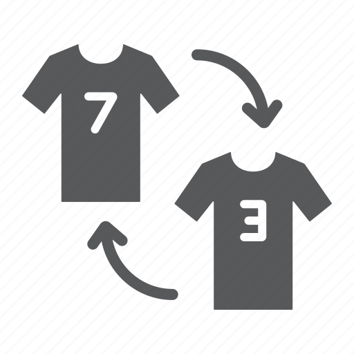Arrow, change, football, player, soccer, substitution, tshirt icon - Download on Iconfinder