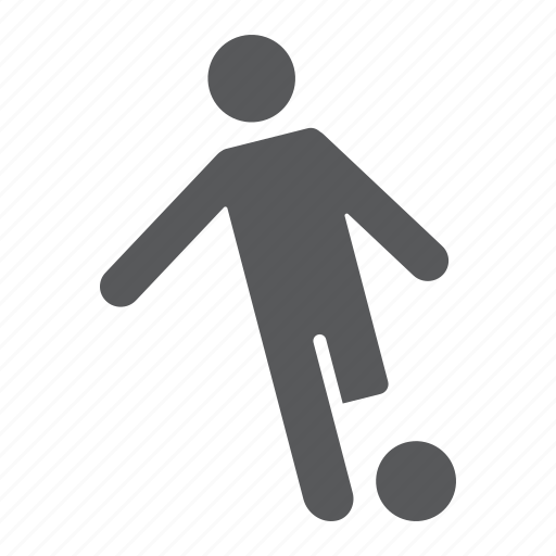 Ball, football, kick, kickball, player, soccer, sport icon - Download on Iconfinder