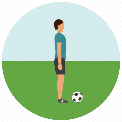 activity, football, player, soccer, sports icon