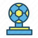 ball, football, game, goal, soccer, sport, trophy