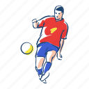 ball, football, footballer, player, soccer, spain, sport icon