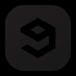 entertainment, gag, logo, nine, social icon