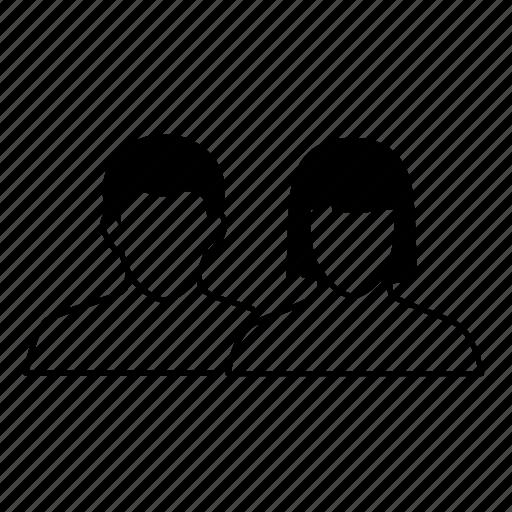 couple, female, male, relationship, social media, user, user profile icon