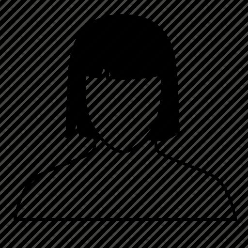 face, female, girl, lady, social media, user, user profile icon