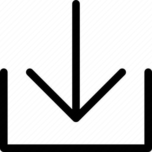 arrow, down, download, file, guardar, save icon