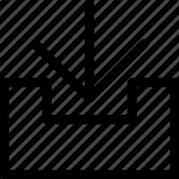 arrow, down, download, file, guardar, save, zip icon