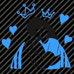 love, wins, social, activism, heart, couple, kiss, crown, affection
