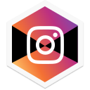 appicon, colorful, hexagon, insta, instagram, logo, social icon