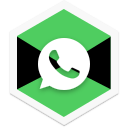 app, chat, colorful, message, social, triangle, whatsapp icon