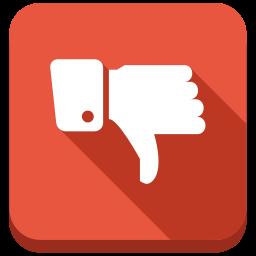 bad, contra, down, negative, no, thumb icon