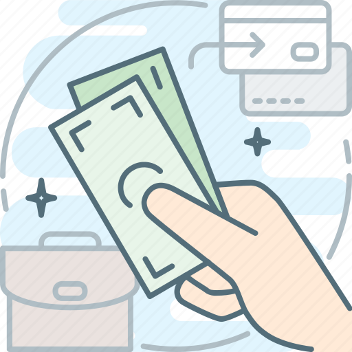 cash, hand, money, pay, payment, salary, transaction icon