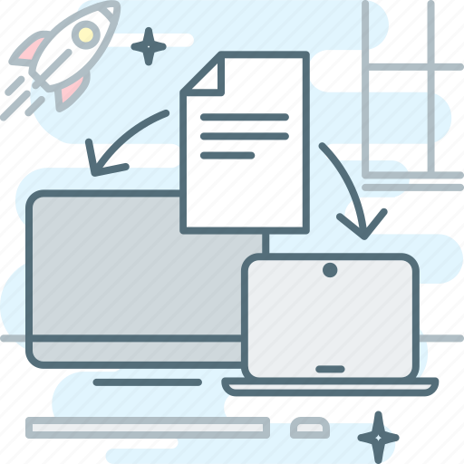 desktop, document, electronic document management, file, notebook, paperless, workflow electronic icon