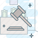 auction, claims, hammer, judge, justice, law, sanctions icon