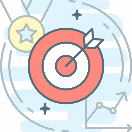 aim, dartboard, effectiveness, goal, hit the target, target, win icon