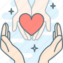 care, charity, hand, hands, love, save icon