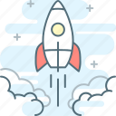 fast, launch, mvp, rocket, starting, startup, stopwatch icon