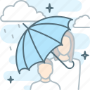 insurance, insure, protect, protection, rain, shade, umbrella icon