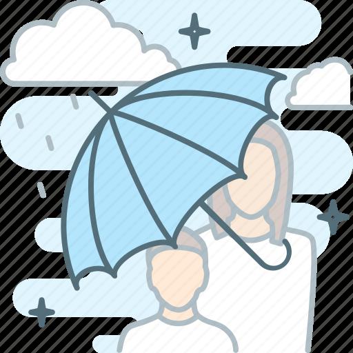 insurance, insure, protect, protection, rain, shade, umbrella icon