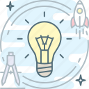 brainstorm, bulb, creative, idea, proactive icon