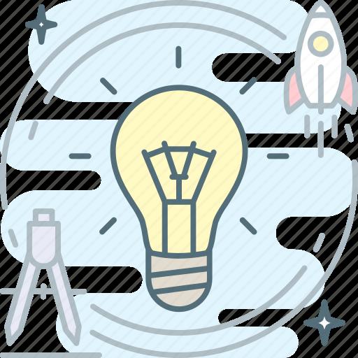 brainstorm, bulb, creative, idea, proactive icon