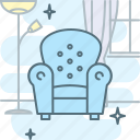 armchair, chair, comfortable, cosiness, furniture, sofa icon