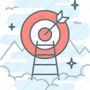 aim, bullseye, dartboard, effectiveness, goal, hit the target, target icon