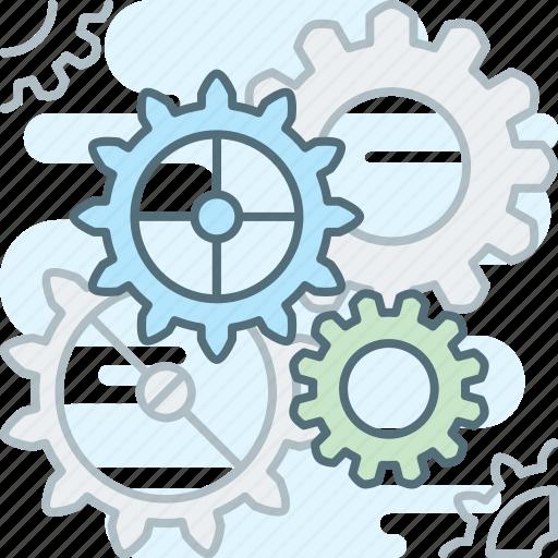 cog, gear, gears, mechanism, settings icon