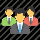 business team, organization, management, teamwork, people icon