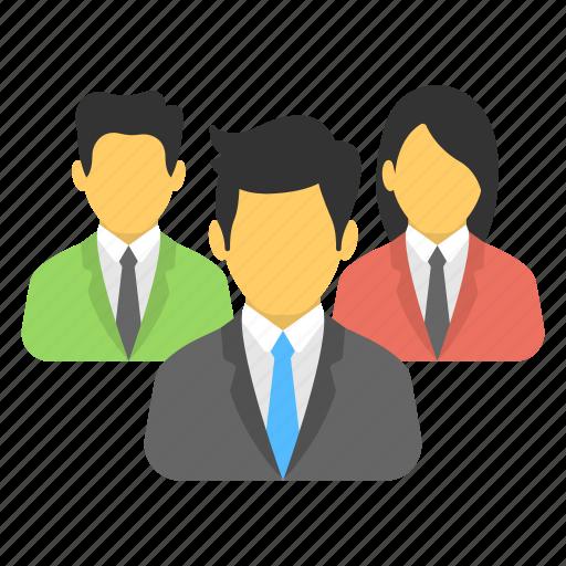 business team, management, organization, people, teamwork icon